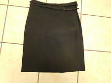 LADIES 'MEXX' KNEE LENGTH BLACK LINED SKIRT WITH BELT SIZE 14 WORN ONCE