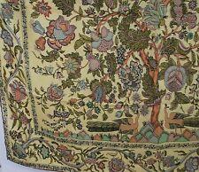"LIBERTY OF LONDON Vintage Silk Tree Of Life Pretty Yellow England 35"" Very Nice"