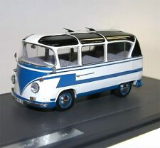 Matrix scale Models, vw t1 Auwärter CARLUX bus, 1961-62, bleu/blanc, 1/43