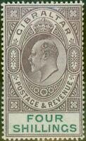 Gibraltar 1903 4s Dull Violet & Vert SG53 Fin MTD Excellent État (7)