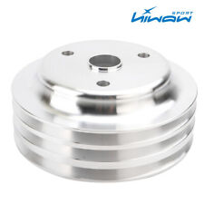 Aluminum Crankshaft Pulley 3 Groove Lwp Long Water Pump For Chevy Sbc 350 Crank
