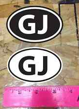Gj Grand Junction mountain bike colorado sticker decal Black and White - 2 for 1