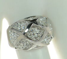 Steel by Design Crystal Dome Ring SZ- 10