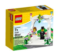 Lego 40165 Minifigure Wedding Favour Set Retired - NISB Bride Groom Flowers