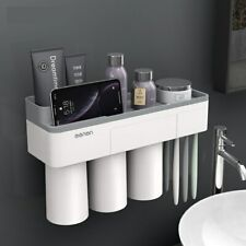 Multifunctional Wall-mounted Toothbrush Holder Bathroom Accessories Storage Rack