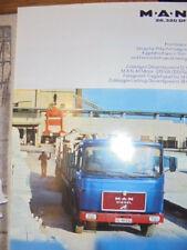 Prospekt Sales Brochure MAN M.A.N 26.320 DF Pritschenwagen LKW Truck Technisches