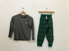 Leicester Tigers Rugby Kid's Club Pyjama Set - 8-9 Years - Grey/Green - New