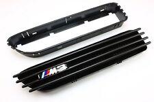 BMW E46 original M3 Emblem matt schwarz Kiemen Grill Nieren + uni Einsatzrahmen