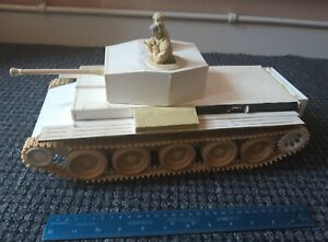 120mm or 1/16 British Cromwell tank scratchbuilt unpainted and unfinished WW2