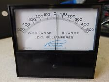 API Retron 7045 D.C. Milliamperes Charge / Discharge Panel Meter +/- 500