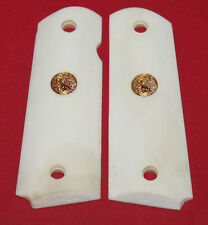 Colt Firearms Full Size 1911 Smooth Ivory Look Grips made from Real Bone .