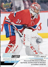 2019-20 UD Game Dated CAREY PRICE Passes Dryden On Canadiens Shutout List!