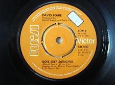"""David Bowie Boys Keep Swinging A-1 B-1 UK 7"""" RCA BOW 2 PB 1585 1979 EX"""
