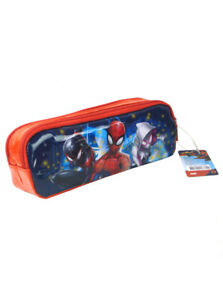 Spider-Man Pencil Case Tote Dual Compartment Red Marvel Comics Heroes New