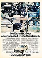 1972 1973 Datsun 510 Original Advertisement Print Art Car Ad H64