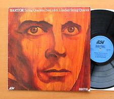 ASV DCA 504 Bartok String Quartets 5 & 6 Lindsay String Quartet 1981 Digital VG