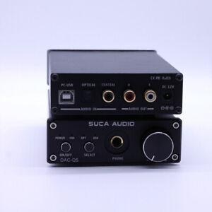 SUCA Audio DAC-Q5 HiFi Optical/Coaxial/USB Headphone Amplifier DAC Decoder