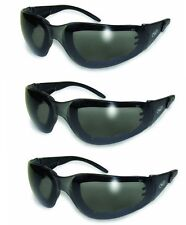 3-Pair Rider Plus Sunglasses Smoke Safety Lens Motorcycle Cycling Glasses Sports