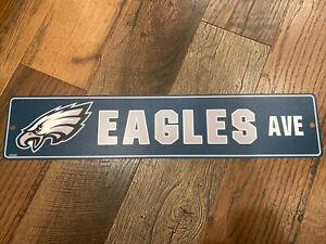 "Philadelphia Eagles NFL 4""x24""  Avenue Logo Street Sign ~ New"