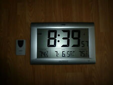 "LA CROSSE 513-1311OTN Big 15"" Screen Digital Wall/Desk Clock"