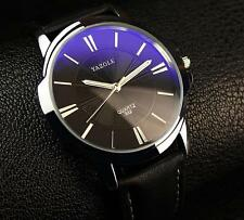 Fashion Men's Leather Luxury Quartz Wrist Watches YAZOLE New 2017 Top MVMT Style