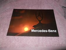 Vintage 1970s Mercedes Benz Original Color Brochure MINT
