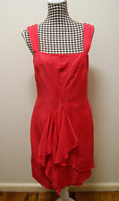 CUE DRESS RED WATERFALL SUNDRESS, Sz 12