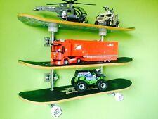 Kids Boys Room Retro Skateboard Shelf / Shelves Storage Ultimate Triple Stack