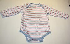 Infant Boys Gum Balls Blue Red & White Striped Long Sleeve One Piece Size 6-9 M