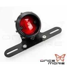 Retro LED Tail Light With License Plate Bracket Mount For Harley Sportster Black