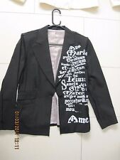 RETRO HENLEYS LADIES BLACK JACKET,VINDICATE,AMEN,UNWORN SIZE 10,GOTH,PUNK