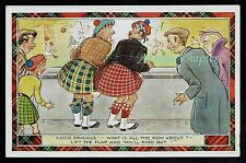 1965 Old Firm Game Celtic v Rangers Novelty Comic Postcard B295