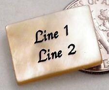 1 CUSTOM ENGRAVED 18x13mm Golden Lip Shell Bead - Rectangle