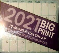 2021 Big Print Wall Calendar Organizer Extra Large Writing Spaces 10x11 S/h