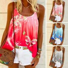 Womens Swing Vest Sleeveless Cami Top Ladies Flared Plus Size Tops Shirt Holiday