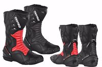 ProFirst Motorbike Upper Leather Shoes Motorcycle Waterproof Adventure Boots CE
