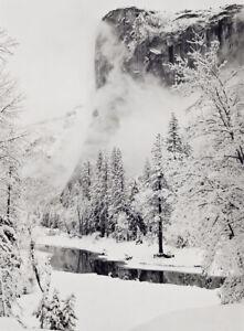 Ansel Adams Winter Yosemite National Park Photo Photography Print Reproduction P