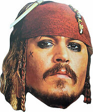 CAPTAIN JACK SPARROW - CARD MASK - PIRATES OF THE CARIBBEAN - FREE SHIPPING!!