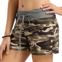 Womens High Waisted Ripped Camouflage Shorts Ladies Summer Trousers Hot Pants