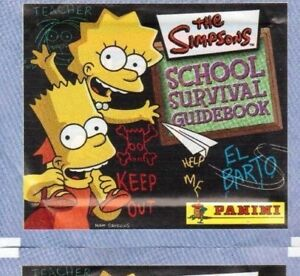 THE SIMPSONS SCHOOL  SURVIVAL GUIDEBOOK STICKERS 001 TO 228  CHOOSE  BY PANINI