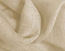 ONE 25 YARD BOLT OF 100%  RUSTIC Linen in Alabaster  For Draperies & Bedding