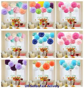 9 PCs Mixed Tissue Paper Pompoms Pom Poms Hanging Garland Wedding Party Decor