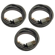 1m + 2m + 3m Premium Nylon USB Ladekabel für iPhone 7 iPhone 8 iPhone 6 S X weiß