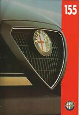 Alfa Romeo 155 T SPARK V6 2.5 Q4 Reino Unido Folleto de colores de 40 páginas 1993