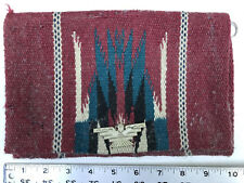 OLD Vtg Chimayo by Ganscraft Thunderbird Clasp Red Purse Clutch Handwoven Wool