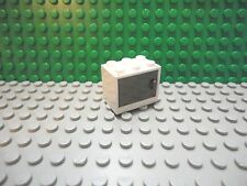 Lego 1 White 2x3x2 box Classic Dark Gray door Jango Fett container cabinet