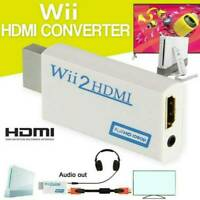 Wii zu HDMI Adapter Konverter 1080p TV Audio 3,5mm AV Kabel für HDTV Wii2HDMI DE