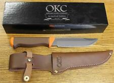 NEW Ontario Knife Company 7535 Seneca Hunter Fixed Blade Knife & Leather Sheath