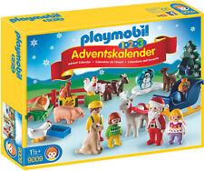 """Playmobil - 1.2.3 Calendrier de l'avent """"de Noël à la ferme"""", 9009"""