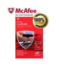 McAfee LiveSafe 2018 Unlimited Devices 1 Year Genuine UK